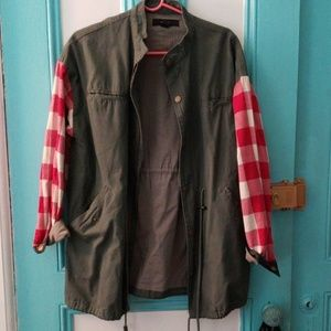 Boyfriend fit utility jacket